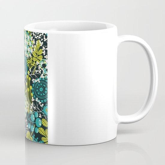 Flowers on the head. Mug