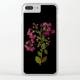 Lagerstroemia Indica Mary Delany British Botanical Paper Flower Collage Delicate Flowers Clear iPhone Case