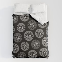 Eyecon (b/w) Duvet Cover