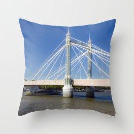 Albert Bridge on the Thames in London (3) Throw Pillow