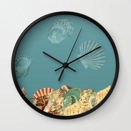 Sea shells Composition 2 Wall Clock
