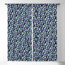 Violet & Green Leaves Blackout Curtain