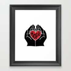 Hold hope in your heart Framed Art Print