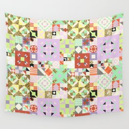 Geometric Quilt Pattern Wall Tapestry