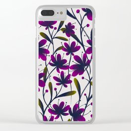 Purple bouquet Clear iPhone Case