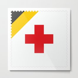 Stamp series - Red Cross in Russia Empire Metal Print