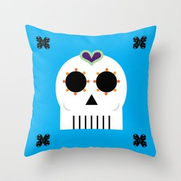 CALAVERITA - SUGAR SKULL Throw Pillow