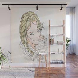 The Dorky little girl Wall Mural