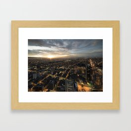 Flat Bogota Framed Art Print