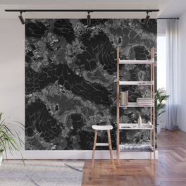 black dragon scales camouflage Wall Mural