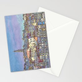 Oporto, the Ribeira district in pastel colours Stationery Cards