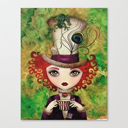 Lady Hatter Canvas Print