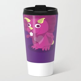 The Dino-zoo: Rabbit-saurus Metal Travel Mug
