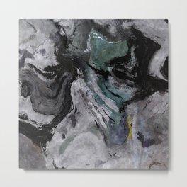 Gray Abstract Painting / Grey Minimalist Wall Art Metal Print