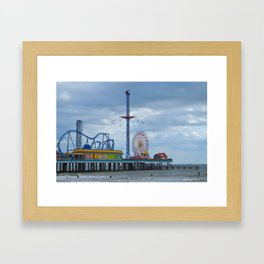 Pleasure Pier - Galveston Texas Framed Art Print