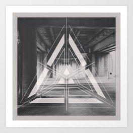 the space below Art Print