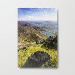 Snowdon Pyg and Miners Track Metal Print