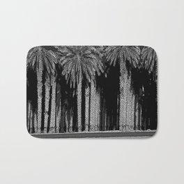 Black & White Date Palms Yuma Pencil Drawing Photo Bath Mat
