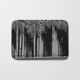 Black & White Date Palms Yuma Pencil Drawing Photo Badematte