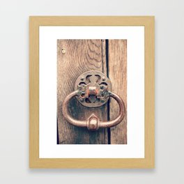 Rustic Door Knocker II Framed Art Print