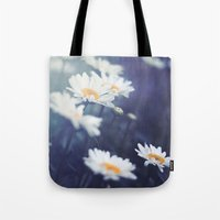 daisies Tote Bags featuring Daisies by Kameron Elisabeth