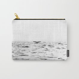 WHITE - SEA - WAVES - WATER - WHALE - NATURE - ANIMAL - PHOTOGRAPHY Carry-All Pouch
