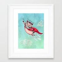 superhero Framed Art Prints featuring Superhero by Aleksandra Jevtovic