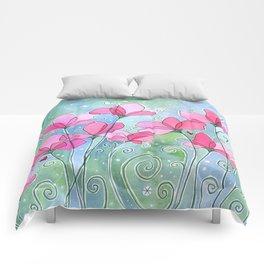 Celestial Strawberry Fluff Comforters