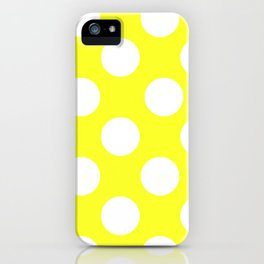 Yellow With Large White Polka Dots iPhone Case