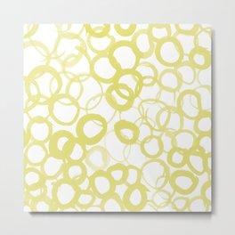 Watercolor Circle Ochre Metal Print