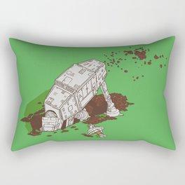 In a backyard, far, far away... Rectangular Pillow