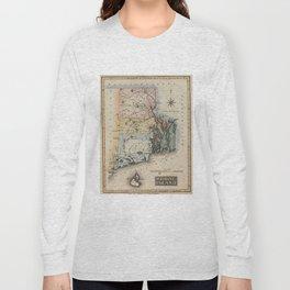 Vintage Map of Rhode Island (1823) Long Sleeve T-shirt