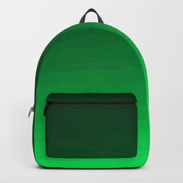 Happy Bright Apple Green Ombre Backpack