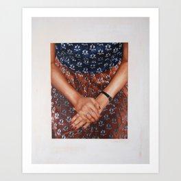 Velvet Dress Art Print