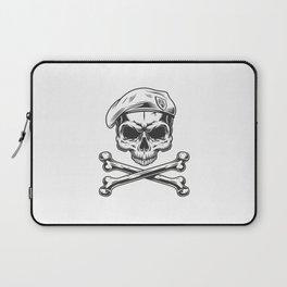 Vintage Navy Seal Skull Beret Laptop Sleeve