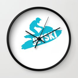 Born To Jet Ski Forced To Work Athletic Beach Summer Sports Wall Clock