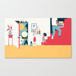 Stairs - (My Dad Used To Be So Cool) Canvas Print