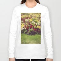 vintage flowers Long Sleeve T-shirts featuring Vintage Pretty Flowers by Victoria Herrera