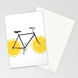Lemon Bike Stationery Cards