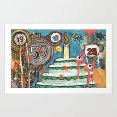 I Love Cake!  Art Print