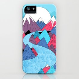 Blue Sky River iPhone Case