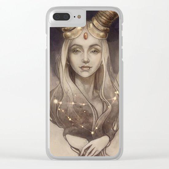 Zodiac Capricorn Clear iPhone Case