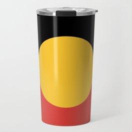 Australian Aboriginal Flag Travel Mug