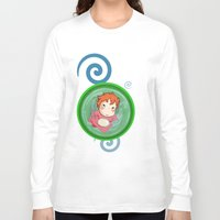 ponyo Long Sleeve T-shirts featuring Ponyo  by SamIAmTheSam
