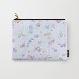 Retro Girl (Blue) Carry-All Pouch