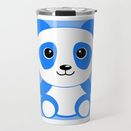Blue Panda Art Cute Kids Bedroom Decor Travel Mug