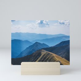flying around in the mountains Mini Art Print