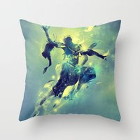 soul Throw Pillows featuring Soul by Pete Harrison