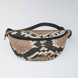 Pastel brown black white snakeskin animal pattern Fanny Pack