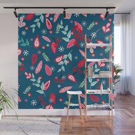 Festive petal pattern Wall Mural
